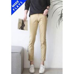 PLAYS - Back-Pocket Slim-Fit Pants