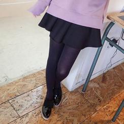 mimi&didi - Asymmetric Ruffle-Hem Mini Skirt