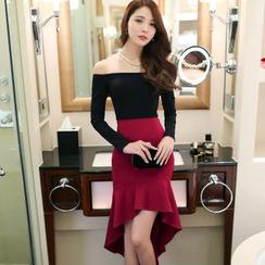 Aurora - Mock Two-Piece Dress