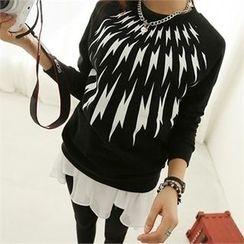 PEPER - Raglan-Sleeve Printed T-Shirt