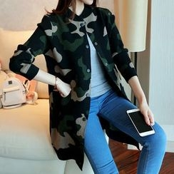 Shomez - Long Camo Knit Jacket