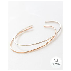 Miss21 Korea - Slim Silver Open Bangle