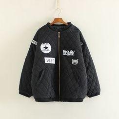 三木社 - 貼布繡夾棉夾克