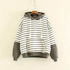 Mushi - Striped Hoodie