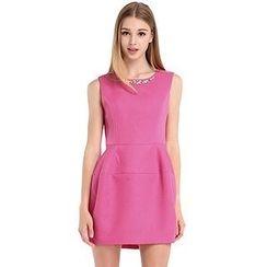 O.SA - Sleeveless Jeweled Dress