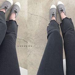 DAILY LOOK - Frey-Hem Cropped Pants