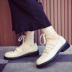 QQ Trend - Lace Up Flats