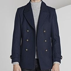 HEIZE - Double Breasted Woolen Coat