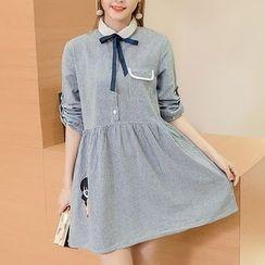 Soswift - 孕婦條紋襯衫