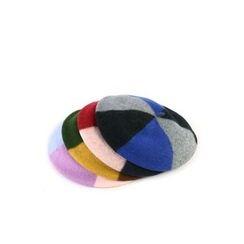 Ohkkage - Color-Block Wool Blend Hunting Cap