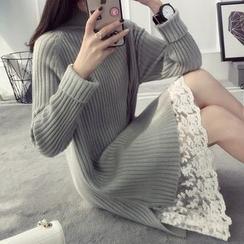 Qimi - 高领后尾裙衣