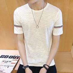 maxhomme - Stripe Short-Sleeve T-Shirt