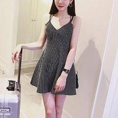 Jolly Club - Striped Sleeveless Dress