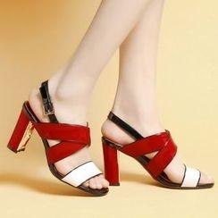 錦洋鞋業 - 高跟多帶涼鞋