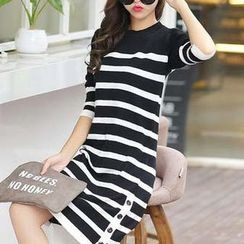 Eferu - Striped Long Sleeve Knit Dress