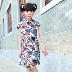 Lotus Seed - 童装短袖碎花旗袍