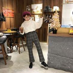 QZ Lady - Plaid Woolen Pants