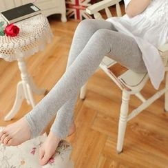The Mommy Club - Maternity Fleece-lined Stirrup Leggings