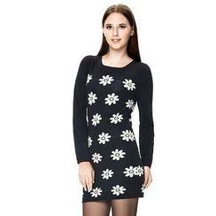 O.SA - Floral Knit Dress