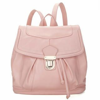 19th Street - Faux Leather Drawstring Backpack