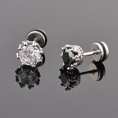 Trend Cool - Rhinestone Crown Earring (One Piece)