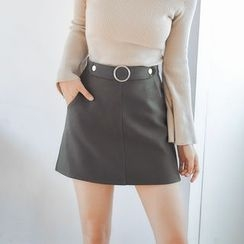 AC - Wool A-Line Skirt