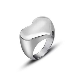 Andante - Titanium Steel Heart Ring