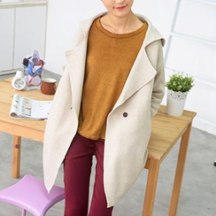 59 Seconds - Single-Button Knit Coat