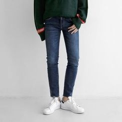 Seoul Homme - Washed Straight-Cut Jeans