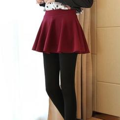 KAKAGA - Inset Skirt Leggings