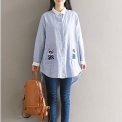 Clover Dream - Embroidered Long Shirt