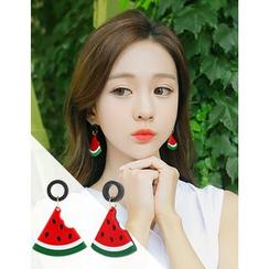 soo n soo - Fruit Dangle Earrings (3 Types)