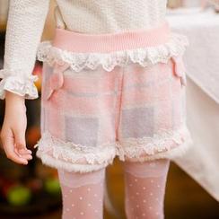 糖果雨 - 小童格子短裤