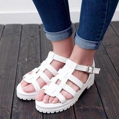Mancienne - Gladiator Block Heel Sandals