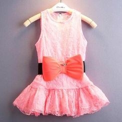 Kidora - Kids Bow Lace Dress