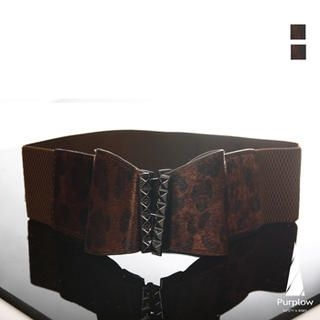 Bow Accent Elasticized Belt