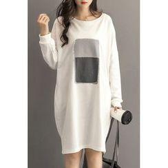 Dream Girl - Print Long-Sleeve T-Shirt Dress