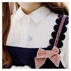 Sechuna - Long-Sleeve Embroidered Shirt