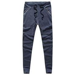 AOYAMA - 抽绳慢跑裤