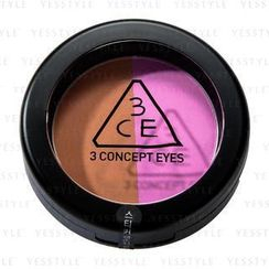 3 CONCEPT EYES - Duo Color Face Blush (Miss Flower)