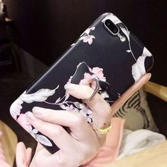 Heptacolor - Floral Print Mobile Case with Ring Stand - iPhone 7 / 7 Plus / 6s / 6s Plus