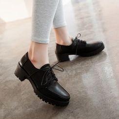 天姿 - 粗跟牛津鞋