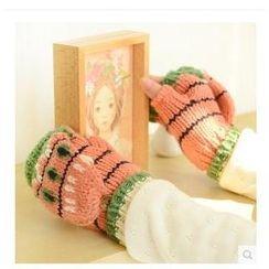 Class 302 - Flower Knit Convertible Mittens