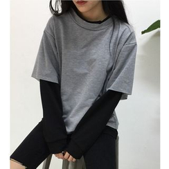 Oaksa - Mock Two Piece Pullover