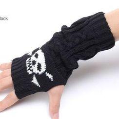 Nirvana Nation - Skull Pattern Fingerless Gloves