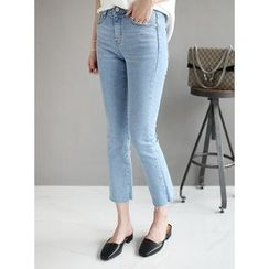 STYLEBYYAM - Cropped Boot-Cut Jeans