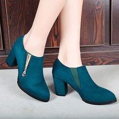 Sidewalk - 粗跟踝靴