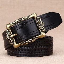BAIEKU - Woven Embossed Genuine Leather Belt