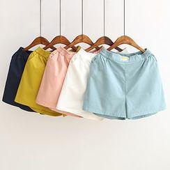 白金天使 - 刺绣短裤