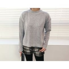 DANI LOVE - Crew-Neck Dip-Back Sweater